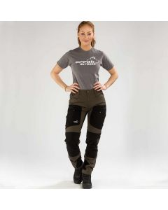 Active Stretch Pants Long Women Brown