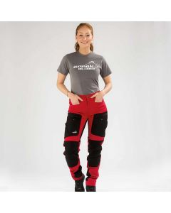 Active Stretch Pants Long Women Red