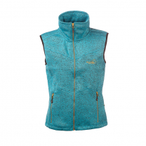 Vette Fleece Vest Women Turqoise