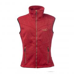 Vette Fleece Vest Women Red