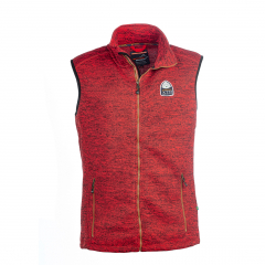 Vette Fleece Vest Men Red