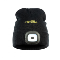 Knitted Hat LED Women Black | Arrak Outdoor
