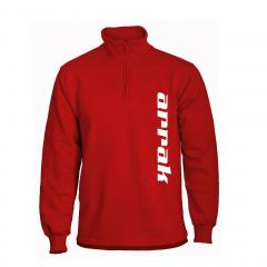 Arrak Runner Sweatshirt Halfzip Red
