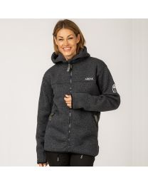 Pilefleece Hood Women Black