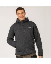 Pilefleece Hood Men Black