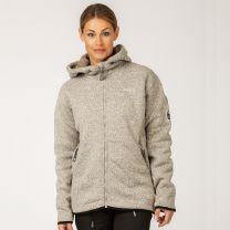 Pilefleece Hood Women Grey