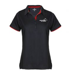 Pro 99 Function Pique With Contrast Color Women Black/Red