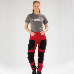 Active Stretch Pants Long Women Red | Arrak Outdoor