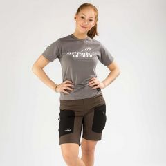 Active Stretch Shorts Women Brown