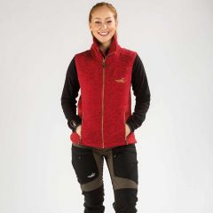Vette Fleece Vest Women Red