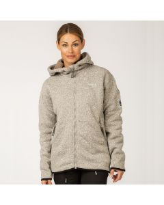 Pilefleece Hood Women Grey