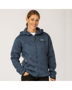 Pilefleece Hood Women Navy