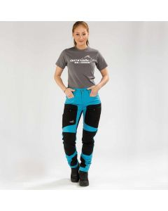 Active Stretch Pants Long Women Blue