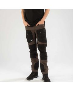 Active Stretch Pants Long Men Brown