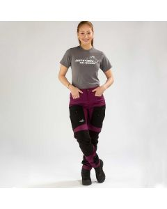 Active Stretch Pants Long Women Fuchsia