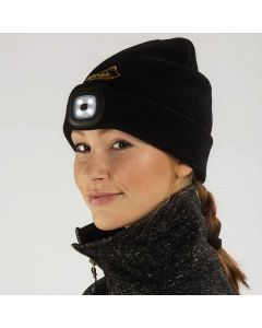 Knitted Hat LED Women Black