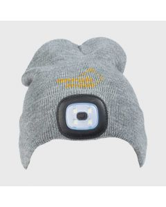 Knitted Hat LED Women Grey