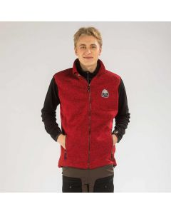 Vette Fleece Vest Men Red